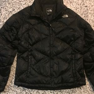 Black north face puffer size large
